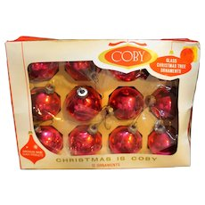 Coby Hot Pink Christmas Ornaments Blown Glass Balls