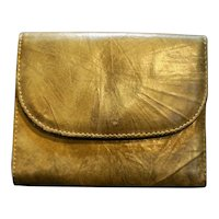 Greenish Brown Leather Women's Wallet
