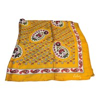 Echo Goldenrod Mustard Paisley Floral Scarf