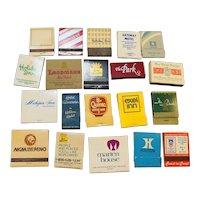 Vintage Hotel Matchbooks Lot of 20
