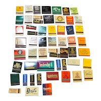 Vintage Matchbooks Restaurants Lot of 52 Assorted