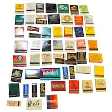 Vintage Matchbooks Restaurants Lot of 52 Assorted