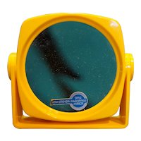 Bright Yellow Lucite Magnifying Mirror Double Side Midcentury