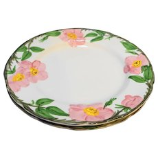 Franciscan Desert Rose Dinner Plates Pair USA Backstamp
