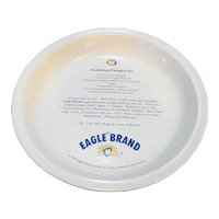 Eagle Brand Foods Ceramic Pumpkin Pie Recipe Plate Pan Baker