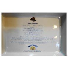 Eagle Brand Foods Ceramic Magic Cooke Bars Recipe Plate Rectangle Pan Baker