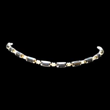 Black Clear Rhinestone Necklace