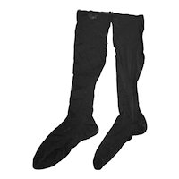 Vintage 1950s Gaymode Black Nylons Stockings Thigh Highs