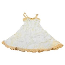 Fischer Silk Pale Green Ecru Lace Slip Nightgown