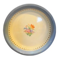 Universal Potteries Pie Plate Blue Floral