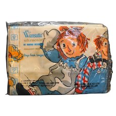 Wamsutta Ultracale Raggedy Ann Andy Pillowcase New Old Stock