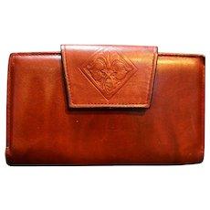 Amity Cowhide Leather Oxblood Wallet Clutch
