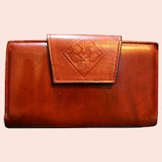 Amity Cowhide Leather Oxblood Wallet Clutch