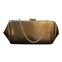 Brown Vinyl Convertible Clutch Purse