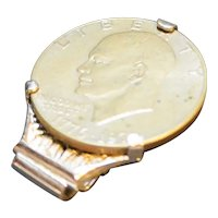 Anson Money Clip Ike Dwight Eisenhower Dollar Coin