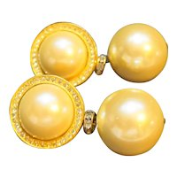 Ann Taylor Rhinestone Faux Pearl Statement Earrings