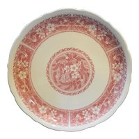 Syracuse China Restaurant Ware Pink Floral Dinner Plate
