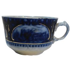 Leicester Flow Blue Cup Sampson Hancock Sons England
