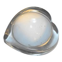 Heart Shaped Clear Glass Magnifying Paperweight