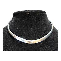 Sterling Torque Necklace Collar Signed KAR