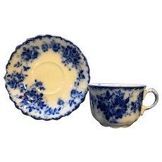 J&G Meakin Leon Flow Blue Cup Saucer