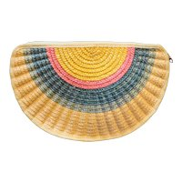 Orsini Straw Rainbow Half Circle Purse Summer