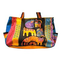 Laurel Burch Rainbow Cats Tote Bag