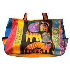 Laurel Burch Rainbow Cats Tote Bag