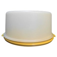 Tupperware Harvest Gold Cake Taker Keeper Carrier Tall Layer Round