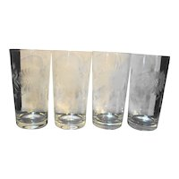 Hughes Cornflower Highball Tumblers 5 IN Set of 4