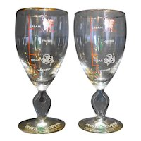 Irish Coffee Recipe Glass Goblets Stems Pair Recipe