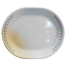 Corelle Snowflake Garland Oval Platter