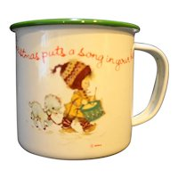 Christmas Puts A Song In Your Heart Vintage Enamel Mug Small