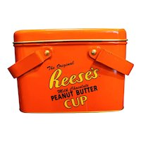 Reese's Milk Chocolate Peanut Butter Cups Picnic Basket Style Tin