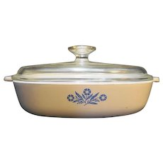Corning Cornflower 9 IN Skillet Casserole P-9-B
