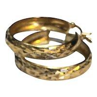 Vermeil Gold Plated Sterling Hoop Earrings