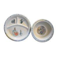 Peter Rabbit Beatrix Potter Melmac Plate Bowl Eden Vintage Used
