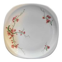 Syracuse Pink Flowers Restaurant Ware Square Plate