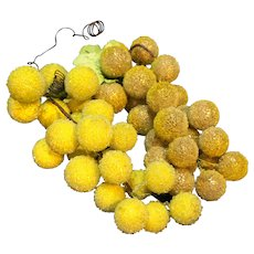 Sugared Grapes Plastic Two Bunches Shades of Yellow
