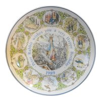 Peter Rabbit Beatrix Potter 1989 Happy Birthday Plate Wedgwood