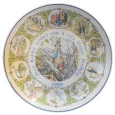 Peter Rabbit Beatrix Potter 1989 Happy Birthday Plate Wedgwood