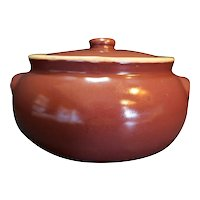 UHL Pottery Burgundy Bean Pot Huntingburg Indiana