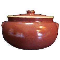 UHL Pottery Burgundy Bean Pot Huntingburg Indiana