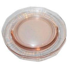 New Martinsville Addie 12 Point Line 34 Pink Small Plates