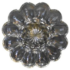 Anchor Hocking Fairfield Clear Glass Egg Plate New In Box