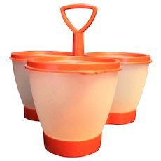Tupperware Red Condiment Caddy Set 757 758 733