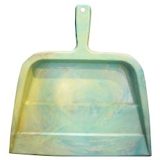 Arnoldware Rogers Green Marbled Swirl Plastic Dust Pan