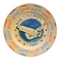 Hail Columbia Space Shuttle 1984 Porcelain Calendar Plate