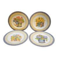 Debbie Mumm Spring Bouquet Sakura Salad Plates Set of 4