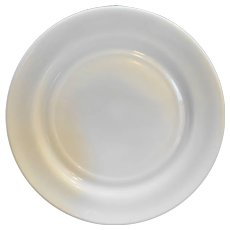 Hazel Atlas White Milk Glass Platonite Plate 9 IN